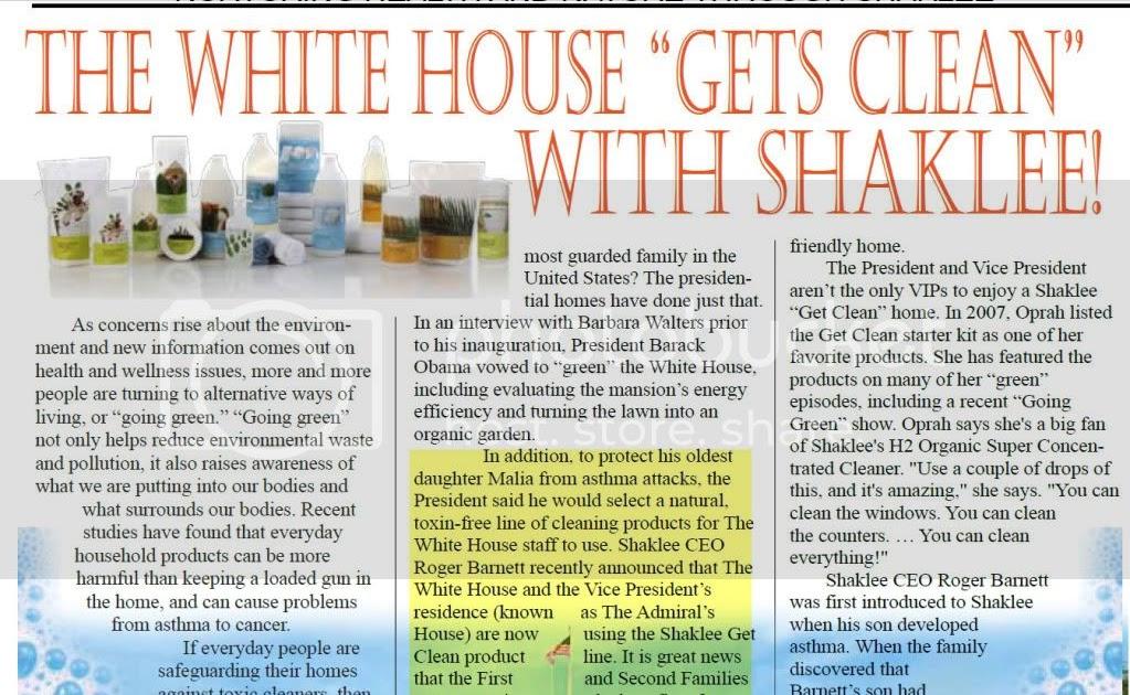 Presiden Obama Menggunakan Produk Shaklee