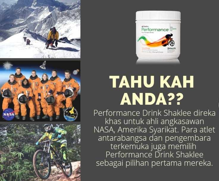 Shaklee Performance Drinks From Nasa AstroAid
