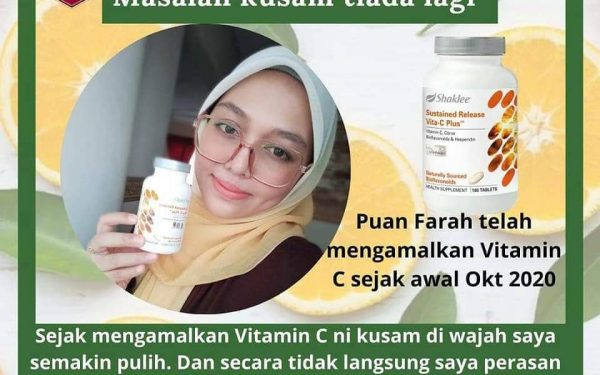Vitamin C Shaklee Kulit Kembali Normal